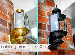 we ve been wanting to replace our outdoor brass light fixtures for quite some time we re talking yeeeeears here there s three of these on the front of