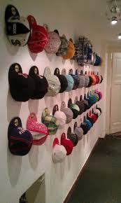 baseball cap wall display clothes