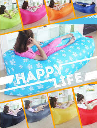 inflatable garden furniture. 15 Color Inflatable Air Sofa Bed Lazy Bag For Camping Beach Outdoor Garden Furniture Lounger Chair Office Sleep Bed-in Sofas From