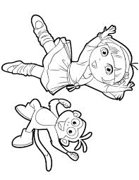 Dora And Boots Coloring Pages Printable Duelprotocolinfo