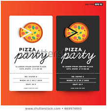 Pizza Party Invitation Templates Pizza Party Invitation Template Design Stock Vector Royalty Free