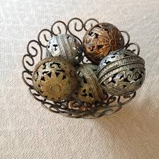 Decorative Metal Balls Best Decorative Metal Bowl And Ornate Metal Balls for sale in 52