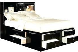 Bed Platform Queen Size Queen Size Platform Bed With Storage Drawers
