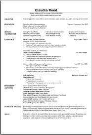 Communication Resume Samples