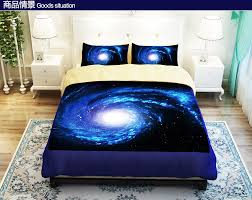 cool blue starry sky universe bedding set duvet cover twin queen king size ed bed sheet boys bed set designer bed covers in bedding sets from home
