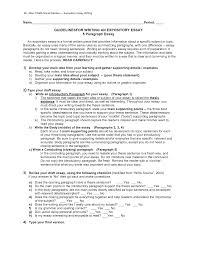 five paragraph informative essay outline com