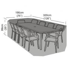 cover up 8 10 seater rectangular patio set cover 320cm