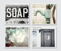 uncategorized rustic bathroom wall decor inspiring rustic bathroom wall decor set of prints or canvas art