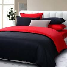 red duvet cover queen high quality solid color bedding set queen black and red duvet cover bed sheet comforter set cotton cs queen bedding sets designer