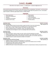 Data Entry Clerk Job Description Resume