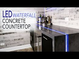 diy waterfall concrete countertop w led river inlay how to make gfrc countertops you