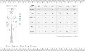 Blank Slate Size Chart Ikkivi