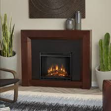 real flame colton 48 in ventless electric fireplace in dark walnut
