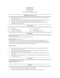 Store Clerk Resumes Retail Clerk Resume Resume Templates Design For Job Seeker