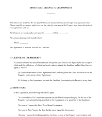 Another Word For Rent Licence Agreement Holiday Rental Sample Template