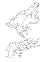 Small Picture Phoenix Coyotes Logo coloring page Free Printable Coloring Pages