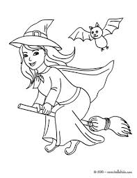 Small Picture Happy witch halloween night flight coloring pages Hellokidscom