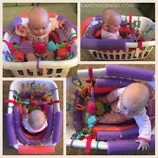 pool noodle baby seat diy