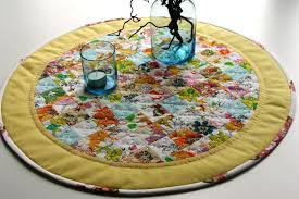 round table mat round table runner table topper table mat hand quilted by slate table mats