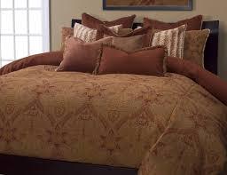 Rust Brocade 6 Piece Duvet Set - California King