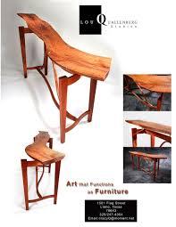 Hand Made Live Edge Mesquite Hallway-Entry-Sofa-Table by Lou Quallenberg  Studios   CustomMade.com