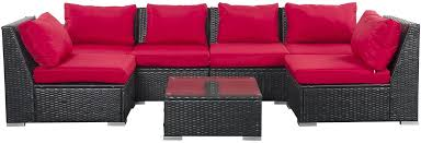7 piece outdoor wicker patio furniture