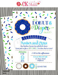 Diaper Shower Invitation Donuts And Diapers Sprinkle Baby Shower Invite Products Baby