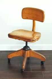 solid wood rolling desk chair vintage oak swivel rolling office chair mid century wood desk furniture