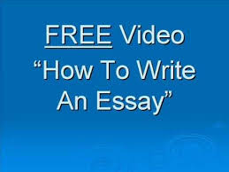 how to write a good essay  how to write a good essay