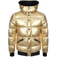 Mens Quilted Jacket | Mainline Menswear & Armani Jeans Quilted Puffa Jacket Gold Adamdwight.com