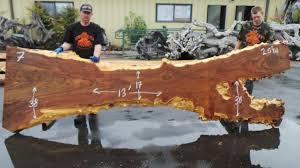 Redwood Slab Dining Table Live Edge Elm Burl Slabs Redwood Burl Inc