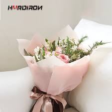 How To Wrap Flower Bouquet In Paper Us 10 96 49 Off Hardiron Flowers Bouquet Wrapping Paper Light Color Waterproof Flowers Packaging Paper Materials Florist Supplies In Storage Bags