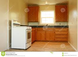Simple Kitchen Simple Kitchen Area With Range Royalty Free Stock Photography
