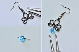 make the basic part of the glass beads chandelier earrings