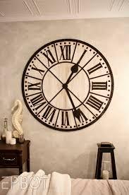 diy giant tower wall clock