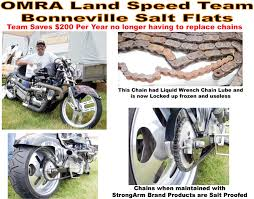 omra bonneville land sd racing team saves 260 a year just on chains which are preserved