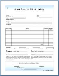Universal Bill Of Lading Bill Lading Form The Of Is Number Format Rightarrow Template Database