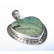 925 silver love heart large green turquoise armadillo pendant sp 935 dg