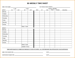 Time Card Sheets Free Bi Weekly Templates Free Sample Example Format Time Card Template