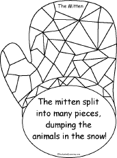 13small the mitten, a printable book enchantedlearning com on the mitten story printable