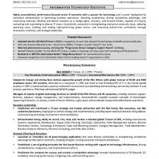 Sample Resume For Experienced Telecom Professional Best It Project