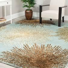 safavieh soho soh712c handmade starburst blue and multi wool area rug 6ft