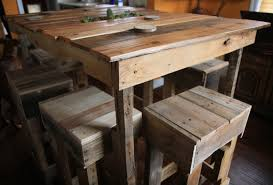 Various Creative Kitchen Table Design Made From Pallets - KutskoKitchen