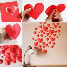 diy wall decor paper. DIY Creative Paper Hearts Wall Decor Diy
