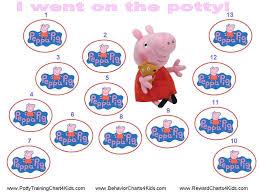 Peppa Pig Potty Training Reward Chart Printable Peppa Pig Potty Training Chart Potty Training Sticker