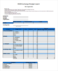 14 Sample Budget Report Templates Free Premium Templates