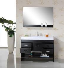 vanity mirrors for bathroom. Bathroom Vanity Mirror Ideas Two Carved Brown Wooden Frame Wall Mixed Single Handle Steel Faucets Cool Large Round Ceramic Mirrors For