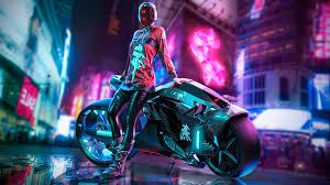 Biker Girl Cyberpunk 4k Wallpaper