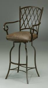 wrought iron bar chairs. Black Iron Bar Stool With Arm And Back Also Leather Seat Stools Wrought Chairs 3