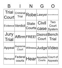 Judicial branch in a flash. Judicial Branch In A Flash Bingo Card